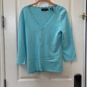 Dana Buchanan Baby Blue Long Sleeve